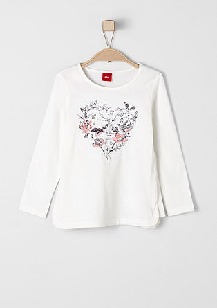 Besticktes Shirt mit Pailletten