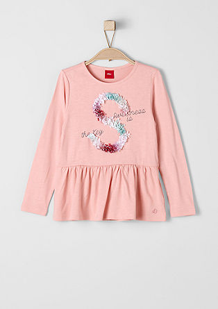 Long sleeve top with a floral appliqué from s.Oliver