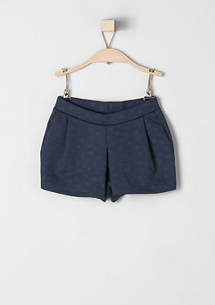 Jersey-Shorts mit Allover-Muster