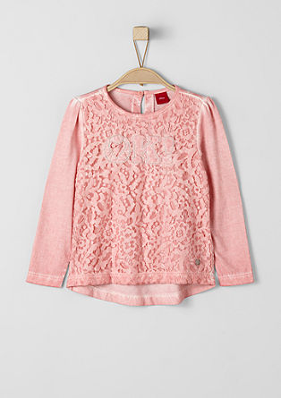 Embroidered lace top from s.Oliver