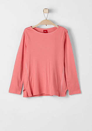Long sleeve top with contrast stitching from s.Oliver