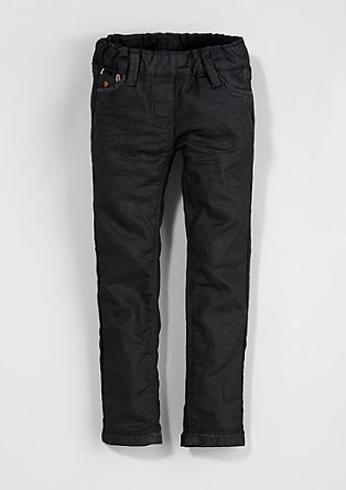 Treggings: Embroidered shiny jeans from s.Oliver