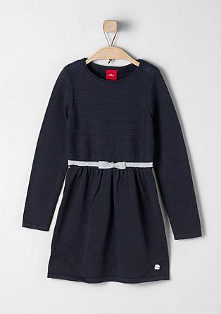 Gebreide jurk met een strikje