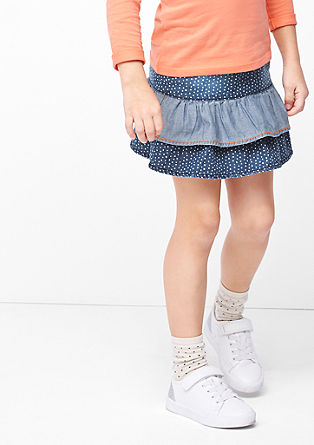 Denim skirt wit polka dots from s.Oliver