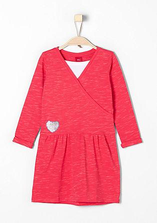 Jerseykleid im Layer-Look