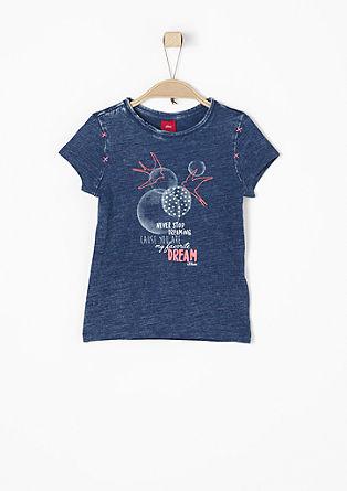 Garment Dye-Shirt mit Artwork