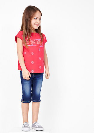 T-shirt with glittering polka dots from s.Oliver