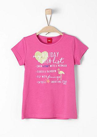 T-Shirt mit Wording