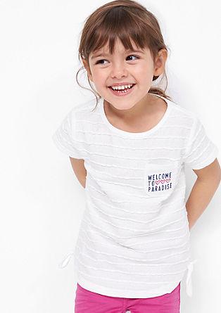 T-shirt met zak
