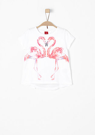 T-shirt with flamingo print from s.Oliver