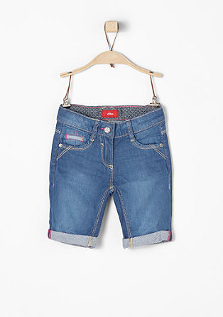 Luchtige bermuda in een denim look