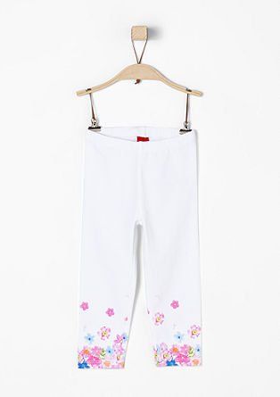 7/8-length leggings with a floral print from s.Oliver