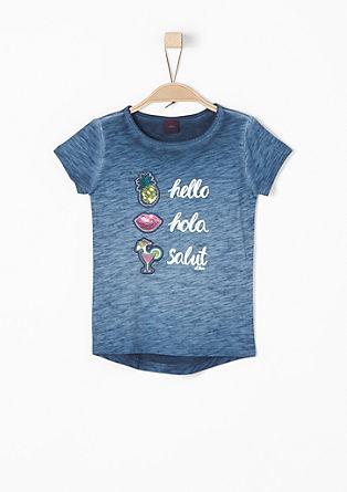 Garment Dye-Shirt mit Patches