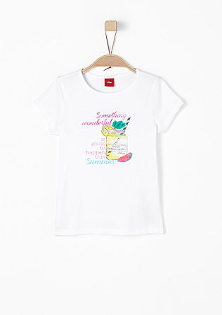 T-shirt with a summery print from s.Oliver