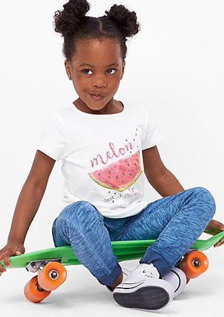 T-shirt met meloenenmotief