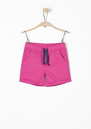Leichte Popeline-Shorts