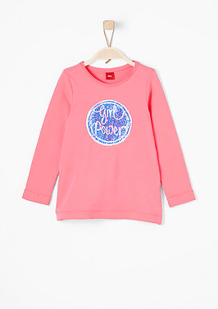 Lightweight sweatshirt with reversible sequins from s.Oliver
