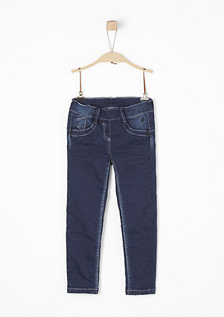 Treggings: jeans with heart stitching from s.Oliver