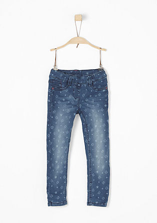 Treggings: Jeans mit Allover-Print