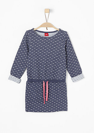 Sweatshirt dress with polka dots from s.Oliver