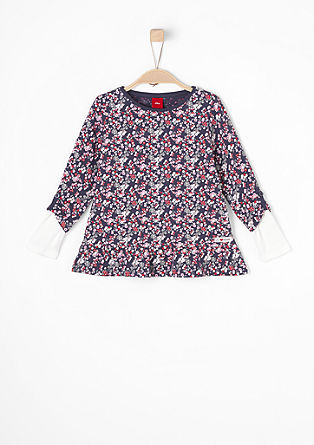 Lang shirt met 2-in-1 look
