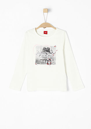 Longsleeve mit Print-Collage