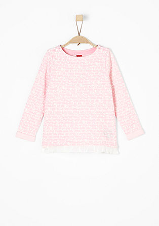 Sweatshirt with an all-over pattern from s.Oliver