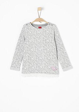 Sweatshirt pulover z vzorcem po vsem oblačilu