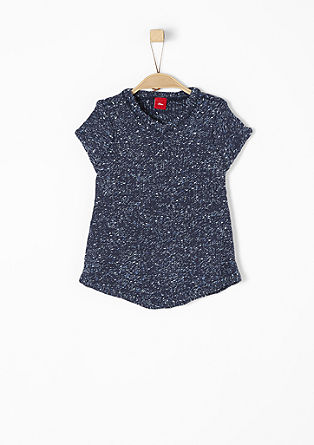 Short sleeve melange knit jumper from s.Oliver