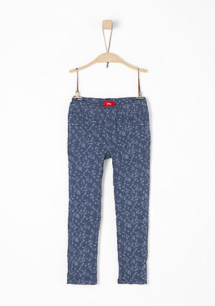 Treggings: trousers with a floral print from s.Oliver