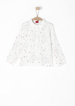 Sternchen-Bluse mit Bubikragen