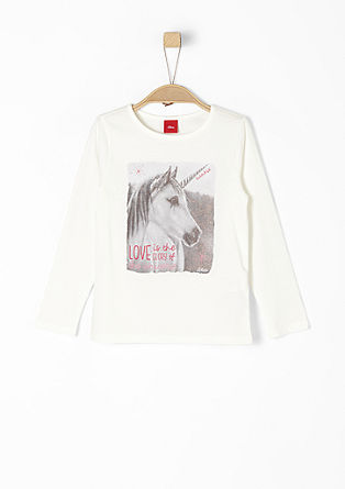 Shirt mit glitzerndem Einhorn-Print