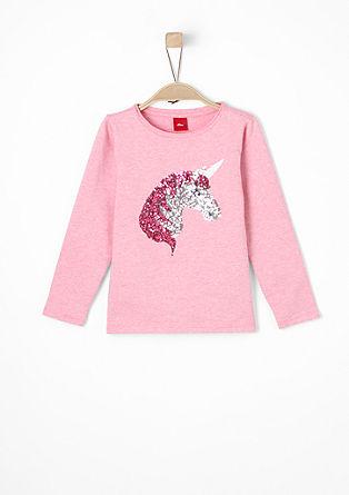 Sweatshirt mit Pailletten-Einhorn
