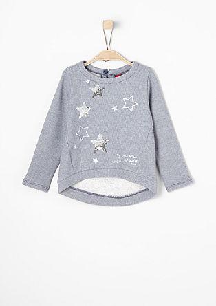 Sweatshirt mit Glitzer-Sternen