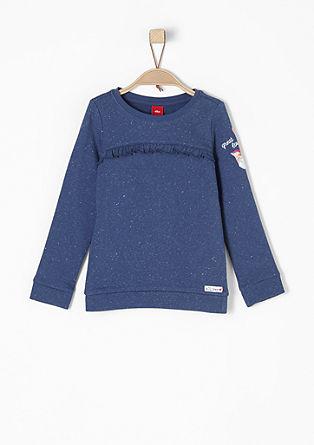 Rüschen-Sweatshirt mit Artwork
