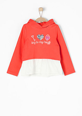 Layer-look hoodie from s.Oliver