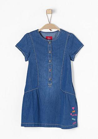 Jeanskleid mit Stitching
