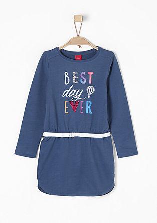 Sweat-Kleid mit Paillettenprint