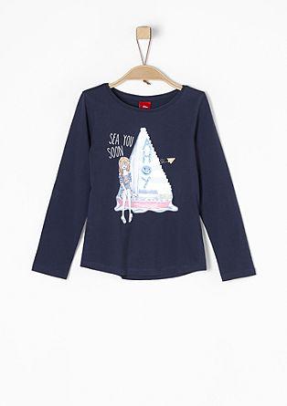 Maritimes Shirt mit Wendepailletten