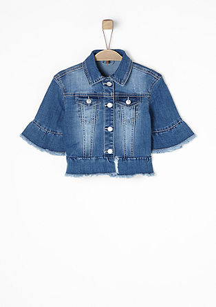 Denim jacket with a flounce hem from s.Oliver