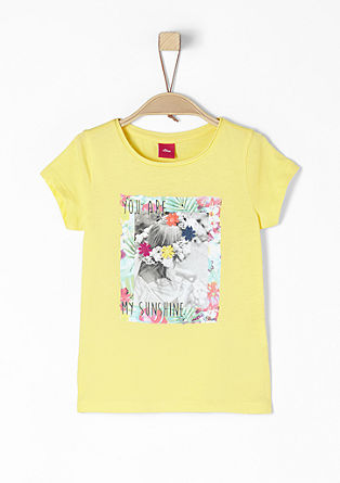 T-shirt met zomerse applicatie