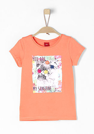 T-shirt with a summery appliqué from s.Oliver