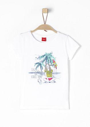 T-Shirt mit exotischem Print