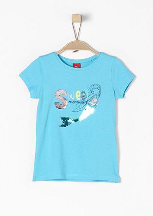 Mermaid-Shirt mit Wendepailletten
