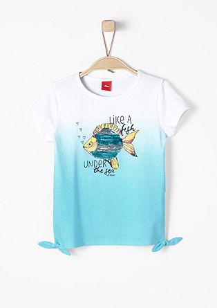 Dip Dye-Shirt mit Artwork
