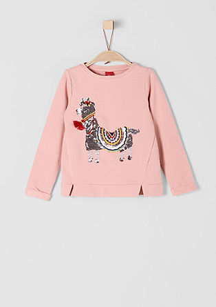Sweatshirt mit Lama-Artwork
