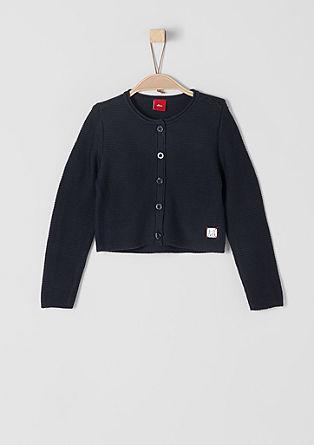 Pletený kabátek s knoflíkovou lištou