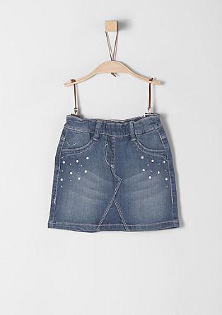 Jeans krilo s kovicami