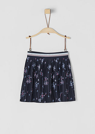 Short pleated skirt with print from s.Oliver