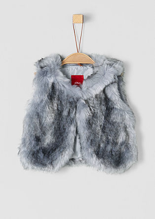 Cosy faux fur body warmer from s.Oliver